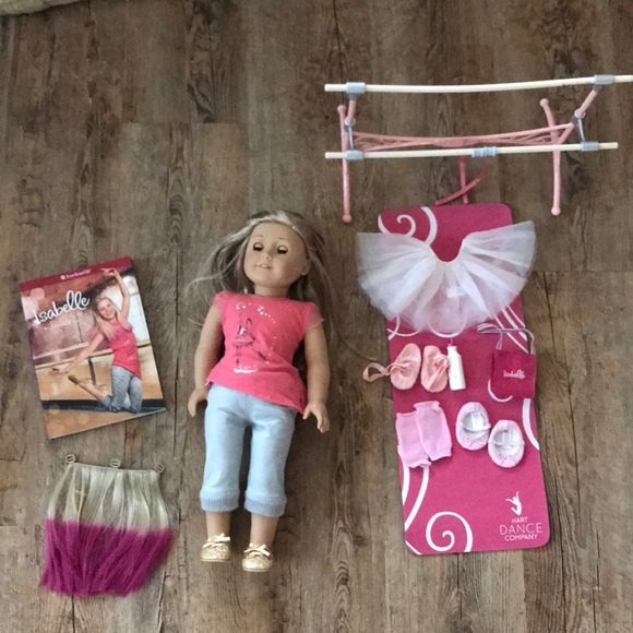 American Girl 2018 Exclusive Ballet Barre /& Outfit Doll Dance Slippers Only New